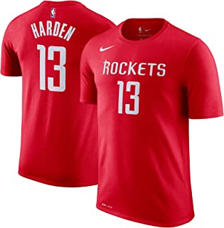 James Harden Houston Rockets NBA Youth 8-20 Red Dri-Fit Performance Official Player T-Shirt