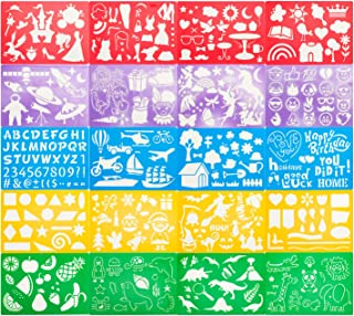 ステンシルシート ステンシル テンプレート (20枚セット) テンプレート手帳 「お子様のお絵描きや製図などにお使いください!」 ステンシルプレート 【DraHope】