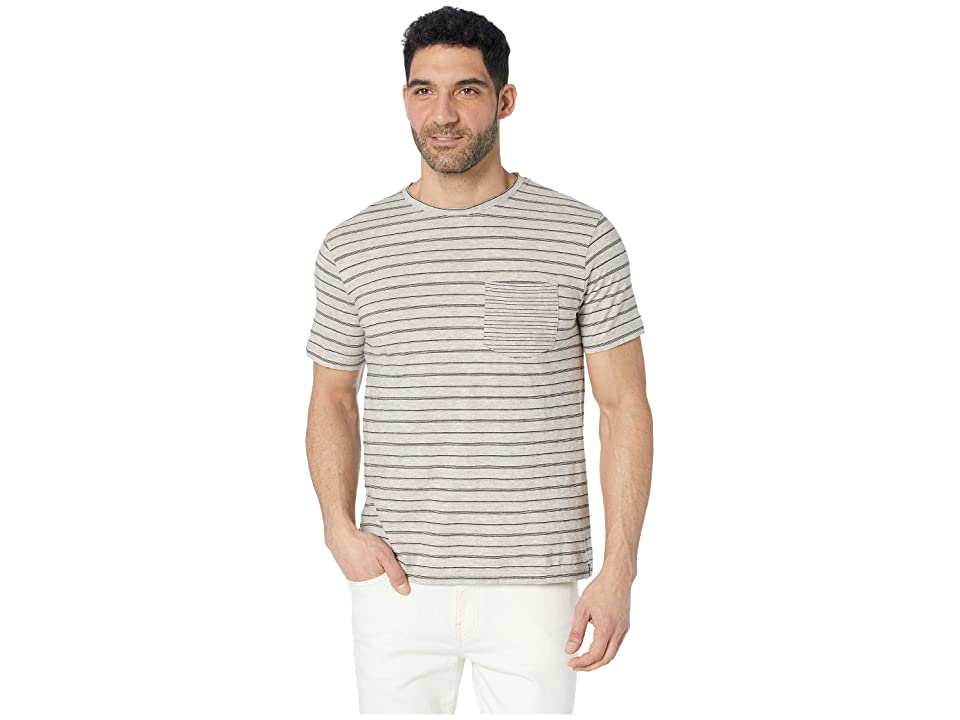 United By Blue Short Sleeve Standard Stripe Tee (Grey) Men