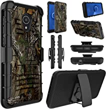 Elegant Choise Alcatel TCL LX Case(A502DL), Alcatel 1X Evolve Case,Alcatel Ideal Xtra Case(5059R), Shockproof Kickstand and Belt Clip Hybrid Holster Heavy Duty Full Body Protective Cover (Camo)