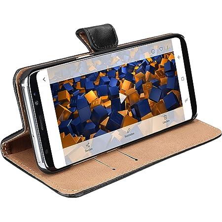 Mumbi Echt Leder Bookstyle Case Kompatibel Mit Samsung Galaxy S8 Hülle Leder Tasche Case Wallet Schwarz Elektronik