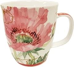 SVIV Curve New Bone China Coffee or Tea Mug, 16oz (Come to my Garden)
