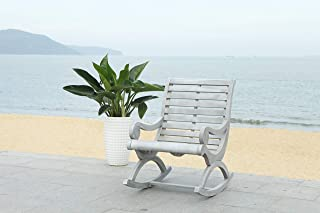 Safavieh PAT7016A Outdoor Collection Sonora Ash Grey Rocking Chair