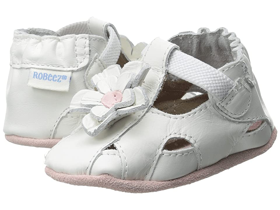 Robeez Pretty Pansy Soft Soles (Infant/Toddler) (White 1) Girls Shoes