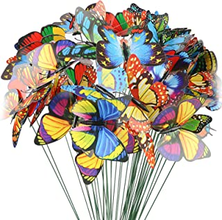 Best VGOODALL Butterfly Stakes, 50pcs 11.5inch Garden Butterfly Ornaments, Waterproof Butterfly Decorations for Indoor/Outdoor Yard, Patio Plant Pot, Flower Bed, Home Decoration Reviews