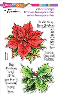 STAMPENDOUS Clear Stamps STAMPND Poinsettia