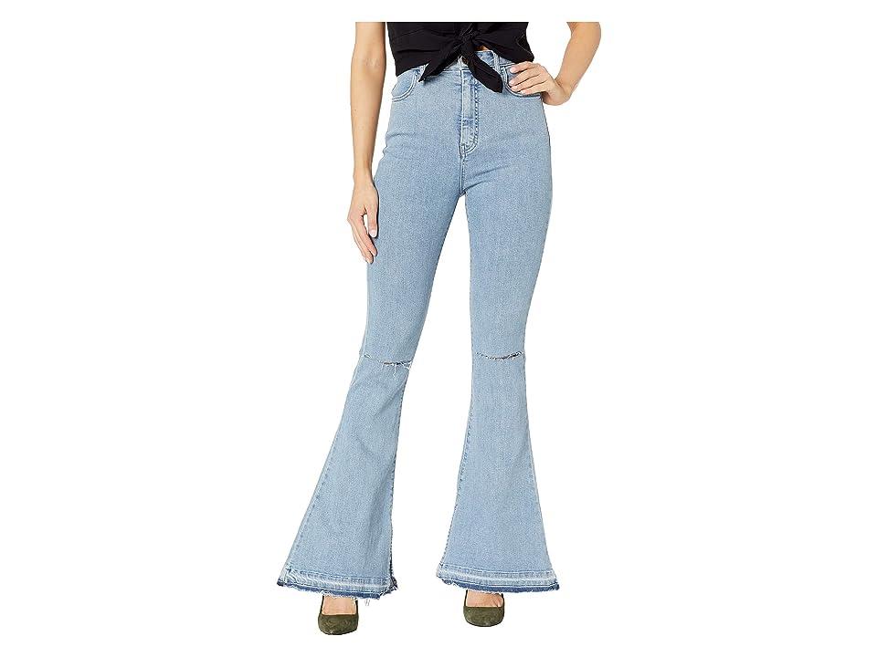 Show Me Your Mumu Austin High-Waisted Flare Pants (Dive) Women