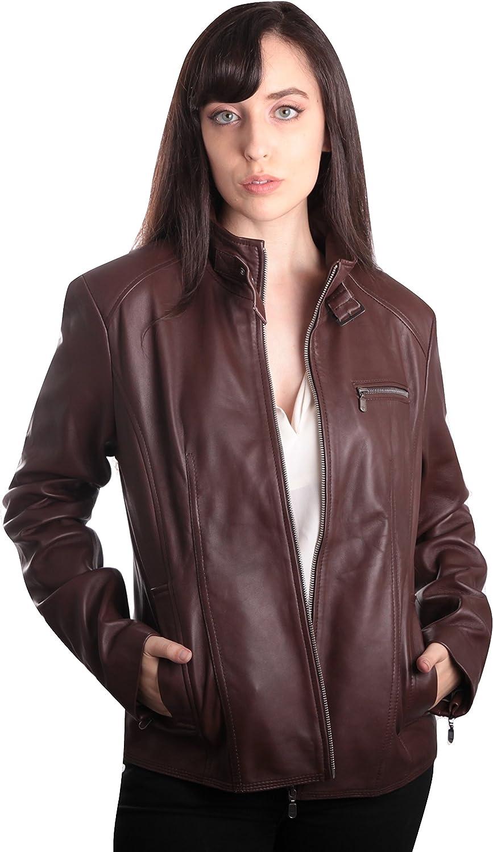 Fadcloset Womens Anne Vintage Leather Jacket