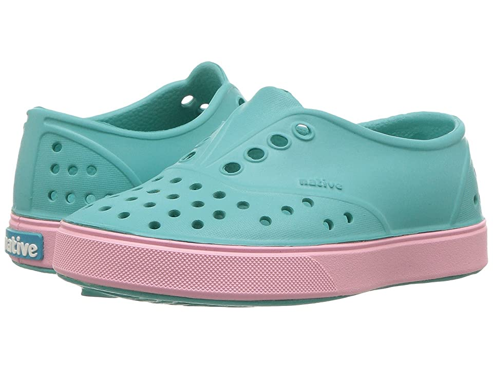 Native Kids Shoes Miller (Toddler/Little Kid) (Pool Blue/Princess Pink) Girls Shoes