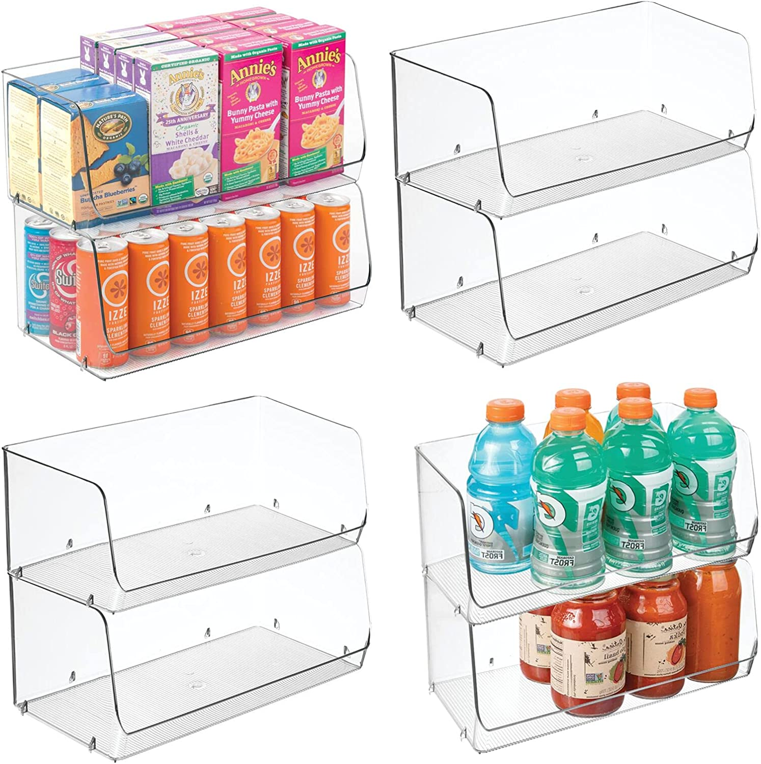 mDesign Extra Large Household Stackable Beauty Spasm price products Org Food Storage Plastic