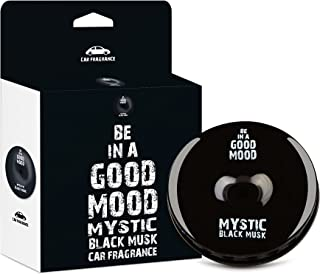 Be in a Good Mood Car Fragrances | Essential Oils | Car Air Freshener with Easy-to-Use Air Vent Diffuser | Boost Your Mood & Eliminate Unpleasant Odors (Black Musk)