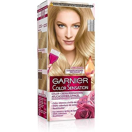 Garnier Color Sensation - Tinte Permanente Rubio Luminoso 8.0 ...