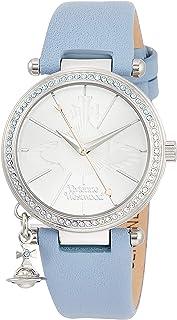 [ヴィヴィアンウエストウッド]Vivienne Westwood 腕時計 オーブ パステル ステンレススチール シルバー文字盤 ライトブルーレザー クォーツ VV006BLBL レディース 【並行輸入品】