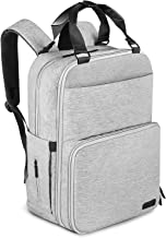 Diaper Bag Backpack, ONSON Multifunction Waterproof Travel BackPack Maternity Baby Nappy Changing Bags with Insulated Pockets, Stroller Straps, Large Capacity, Stylish, Gray