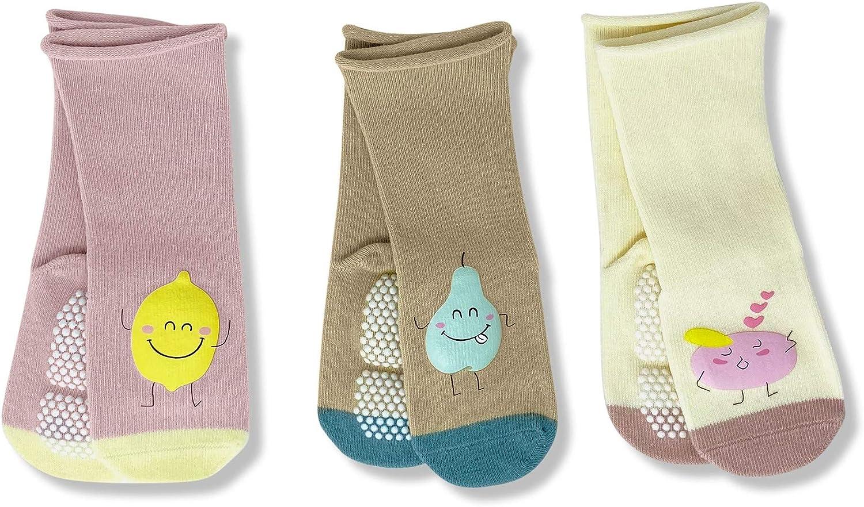 Smarty Toys Baby Girl Knee High Socks Cute Non-Slip/Skid Infant Grip Stockings 6-12 Months