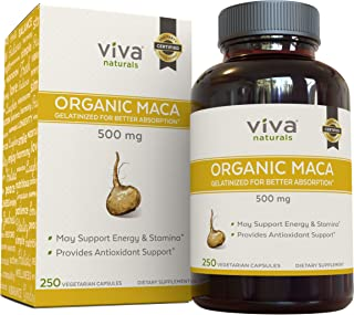 Peruvian Maca Root Capsules - Pure Gelatinized Organic Maca, Supports Reproductive Well-Being and Energy | 250 Vegetarian ...