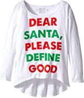 The Original Retro Brand Kids Dear Santa Dolman Tee (Big Kids)