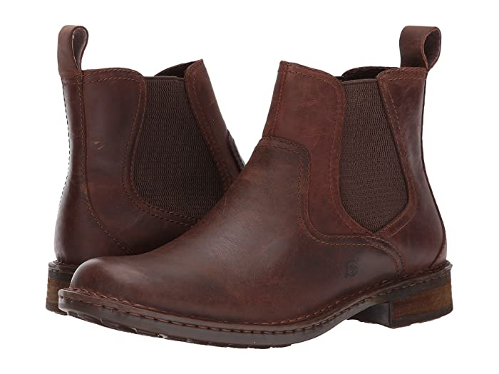 Born  Hemlock (Brown Full Grain) Mens Pull-on Boots