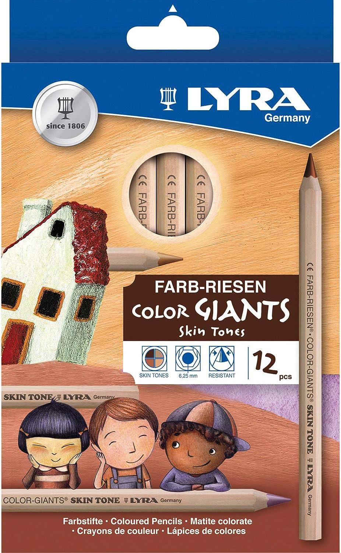 Dixon Ticonderoga Company Lyra Color Giants Skin Tone Colored Pencils (DIX3931124) , Assorted