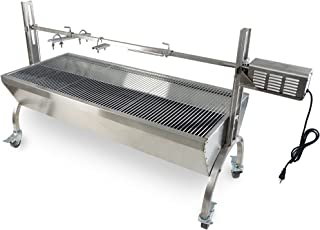 Titan Great Outdoors 25W Rotisserie Grill Roaster Stainless Steel
