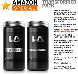 LA Muscle Transformer Pack Special Amazon Promotion, Get Muscle Builder Norateen Heavyweight II Voted no