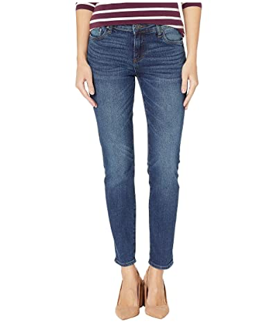 KUT from the Kloth Catherine Slouchy Boyfriend Roll Up 5 in Obsess/Dark Stone Base Wash (Obsess/Dark Stone Base Wash) Women