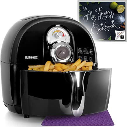 Duronic Air Fryer AF1 /B 1500W Multicooker Mini Oven - Oil Free Cooking - Recipe Book Included - Healthy Cooker Food Oven - Black