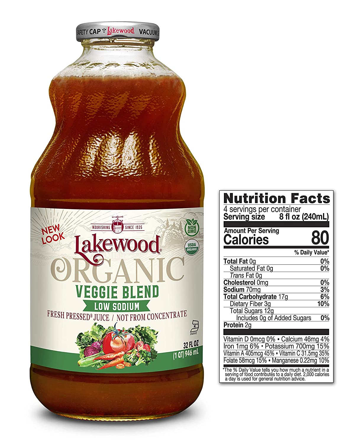 Lakewood Organic Super Veggie Low Sodium 32 Pack 40% OFF Cheap Popular brand in the world Sale Ounce o Juice
