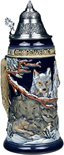 Beer Steins by King - Power of the Pack Wolf German Beer Stein (Beer Mug) 0.75l Limited Edition