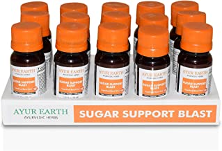 Blood Sugar Support Supreme Superfood Blend Ayurveda Shots -Better Bitters-Fat Blocking -Glucose Control -Improved Circulation-Insulin Resistance & Stabilizer-Total Blood Sugar Optimizer-Weight Loss