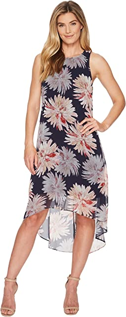 Karen Kane Etched Lotus High-Low Hem Dress