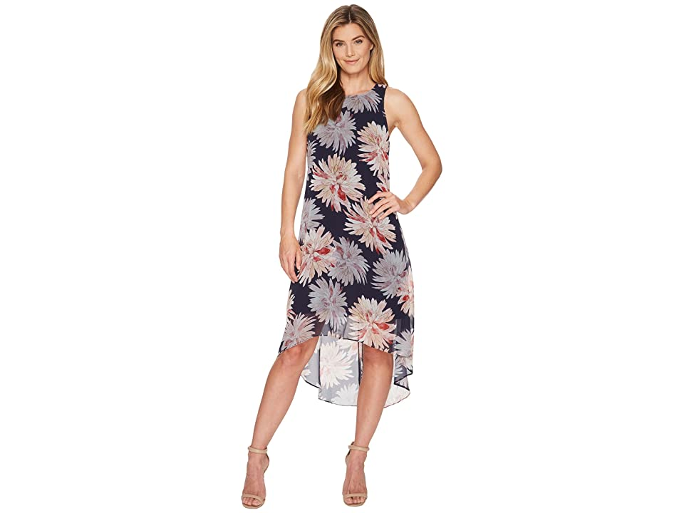 Karen Kane Etched Lotus High-Low Hem Dress (Print) Women