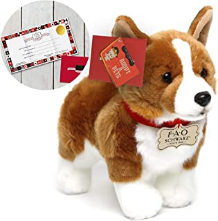 FAO Schwarz 10 Inch Plush Realistic Corgi Stuffed Animal for Boys and Girls, Collectible Cuddle and Snuggle Pal Featuring Ultra-Soft Fur