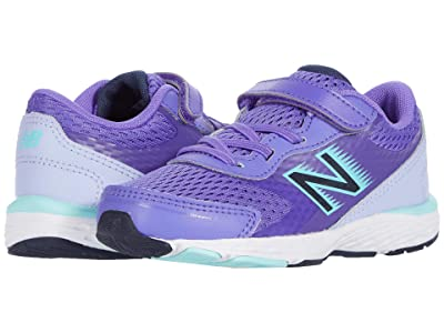 New Balance Kids 680v6 (Infant/Toddler) (Mirage Violet/Mystic Purple) Girls Shoes