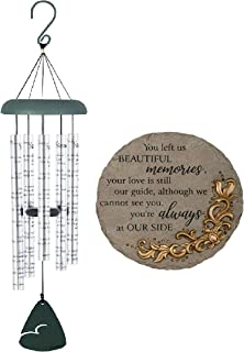 Naturesroom Gift Pack - Carson Home Accents 62913 Always Near Sonnet Memorial Sympathy Wind Chime with Popular Garden Ston...