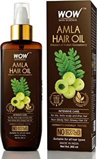 WOW Skin Science Amla Hair Oil - Pure Cold Pressed Indian Gooseberry Oil - Intensive Hair Care - Non-Sticky & Non-Greasy -...