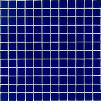 13 inches x 13 inches, 1.15 SQ FT URBN Contemporary Foggy Morning Color Scheme Glass Mosaic Tile for Kitchen and Bath Single Sheet