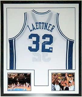 Christian Laettner Signed Duke Blue Devils Jersey - JSA COA Authenticated - Professionally Framed & Last Shot & Championship 8x10 Photo 34x42
