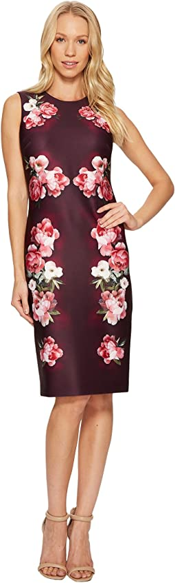 Flower Border Print Sheath Dress CD7MLV6N