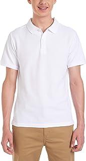 CHAPS Mens Uniform Short Sleeve Stretch Pique Polo