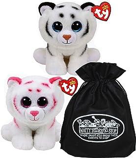 "SET of 2 TY Beanie Babies 6/"" TUNDRA /& TABOR Tiger Stuffed Animal Toy Plush MWMTs"