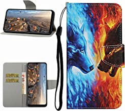 Miagon Full Body Wallet Case for Xiaomi Redmi Note 9S Pu Leather Protective Flip Cover with Wrist Strap ID Card Holder Magnetic Closure Fire Wolf Estimated Price : £ 5,29