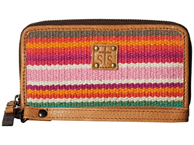 STS Ranchwear Cactus Serape Wristlet (Cactus Serape) Handbags