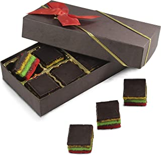 Fresh Baked Rainbow Cookies | Gimmee Jimmy's Cookies- 8 Pieces of Authentic Rainbow Cookies in a Beautiful Gift Box with Bow