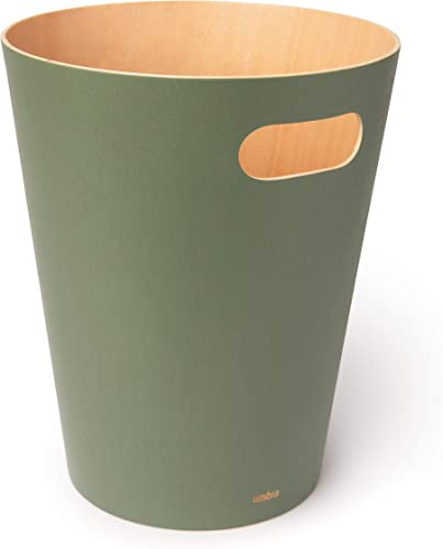 new arrival Umbra 2021 082780-1095 Woodrow 2 Gallon Modern Wooden high quality Trash Can Wastebasket or Recycling Bin for Home or Office, Spruce outlet sale