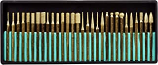 SE 82331TF 30-Piece Set of Titanium-Coated Diamond Burrs, Grits 120-150