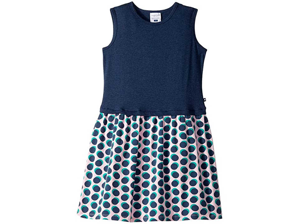 Toobydoo Tank Dress (Toddler/Little Kids/Big Kids) (Navy Polka Dot) Girl