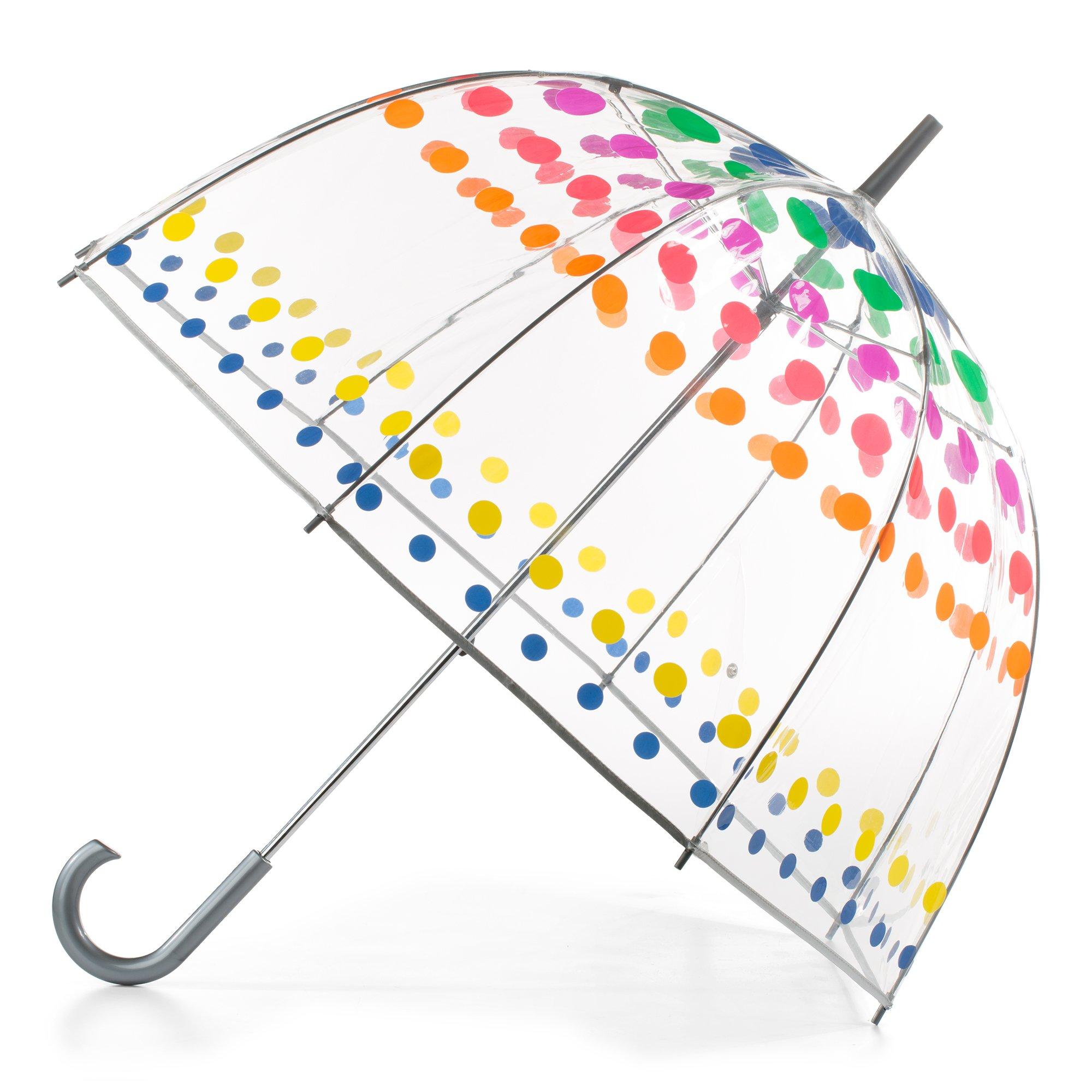 totes Clear Bubble Umbrella Dots
