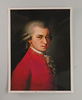 BiblioArt Series モーツァルトの肖像画ーA5版サイズ額絵