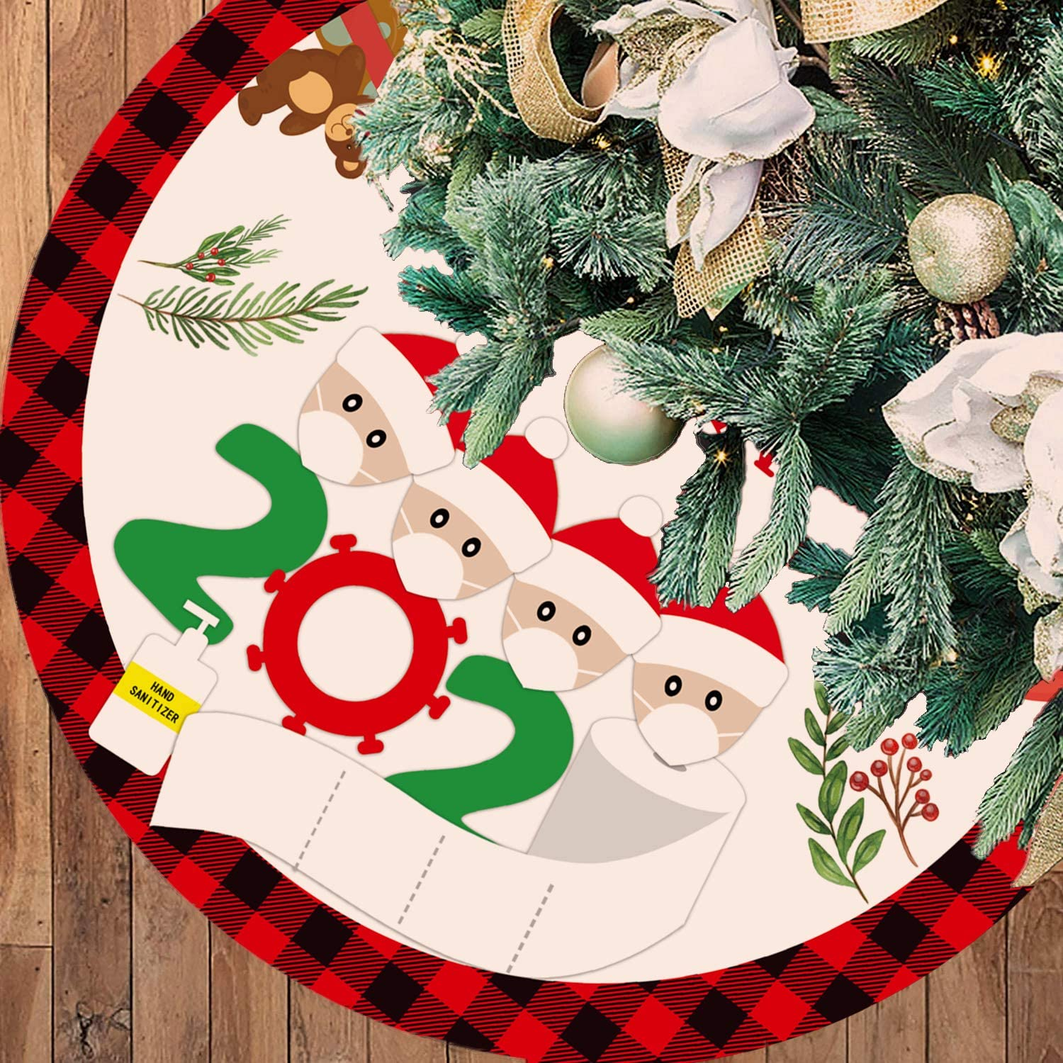 36 Rapid rise Inches Large Christmas Tree Skirt Plai Black Product Red and Buffalo